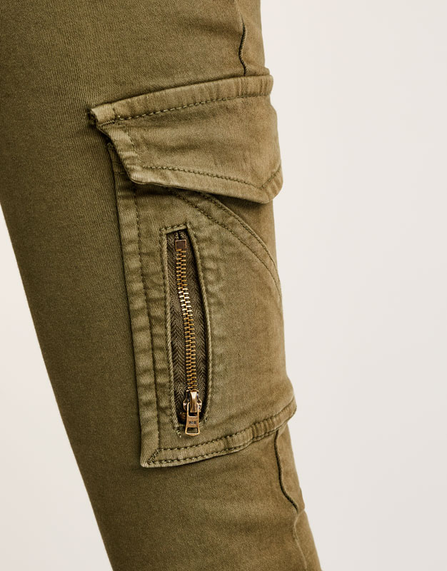 Skinny cargo trousers