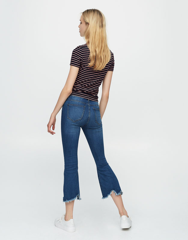 Jeans kick flare fit rotos