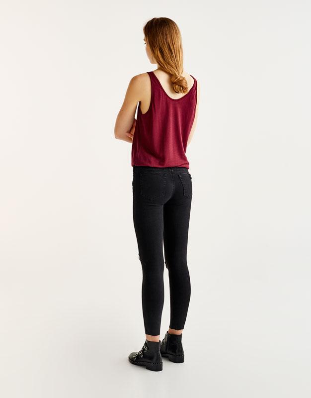 Jeans skinny fit capri