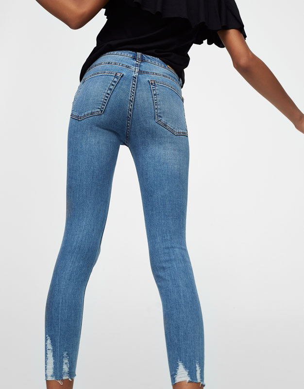 Body curve capri jeans