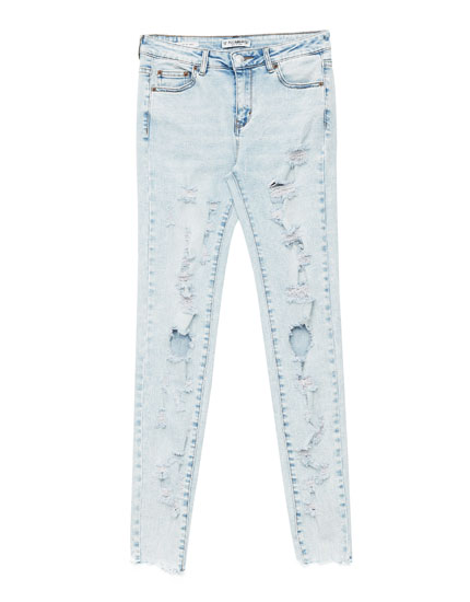 Jeans skinny fit rotos