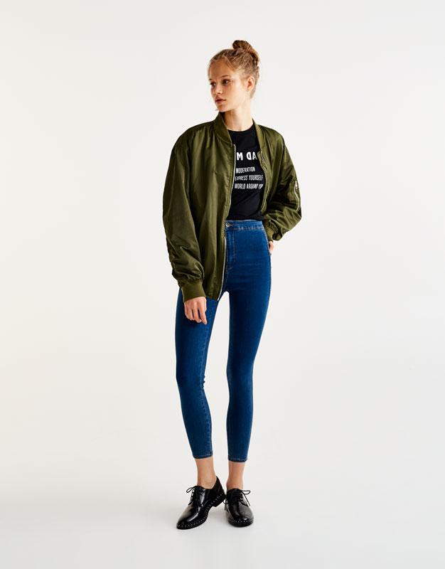 High waist jeans pull and bear