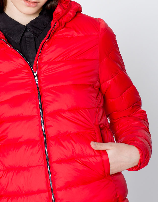 Basic nylon jacket with hood
