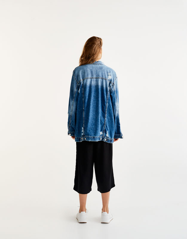 Cazadora oversized long fit