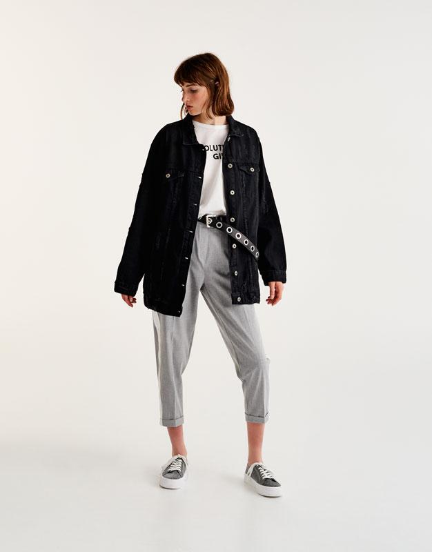 Veste oversize long fit