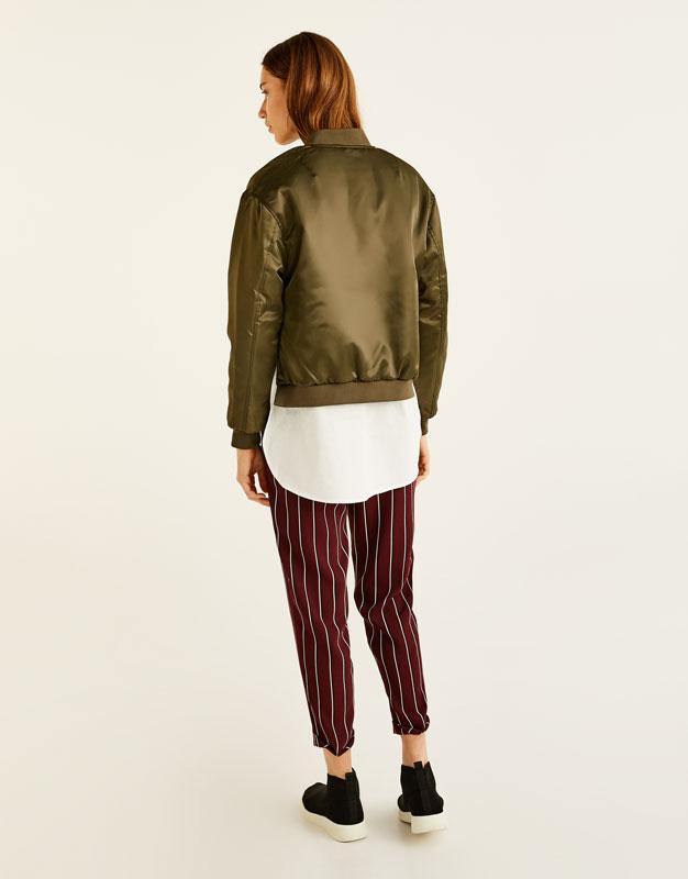 Bomber jacket with shirt