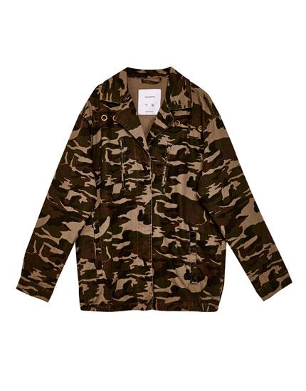 Veste saharienne camouflage