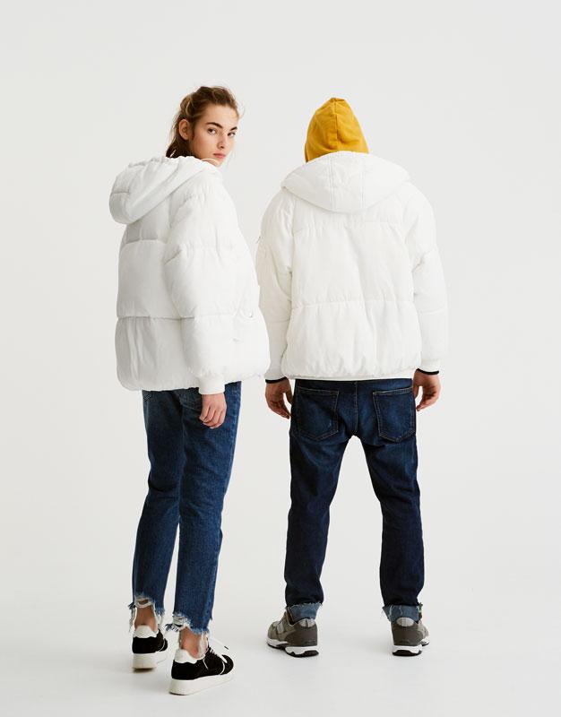 Oversized puffer jacket with hood