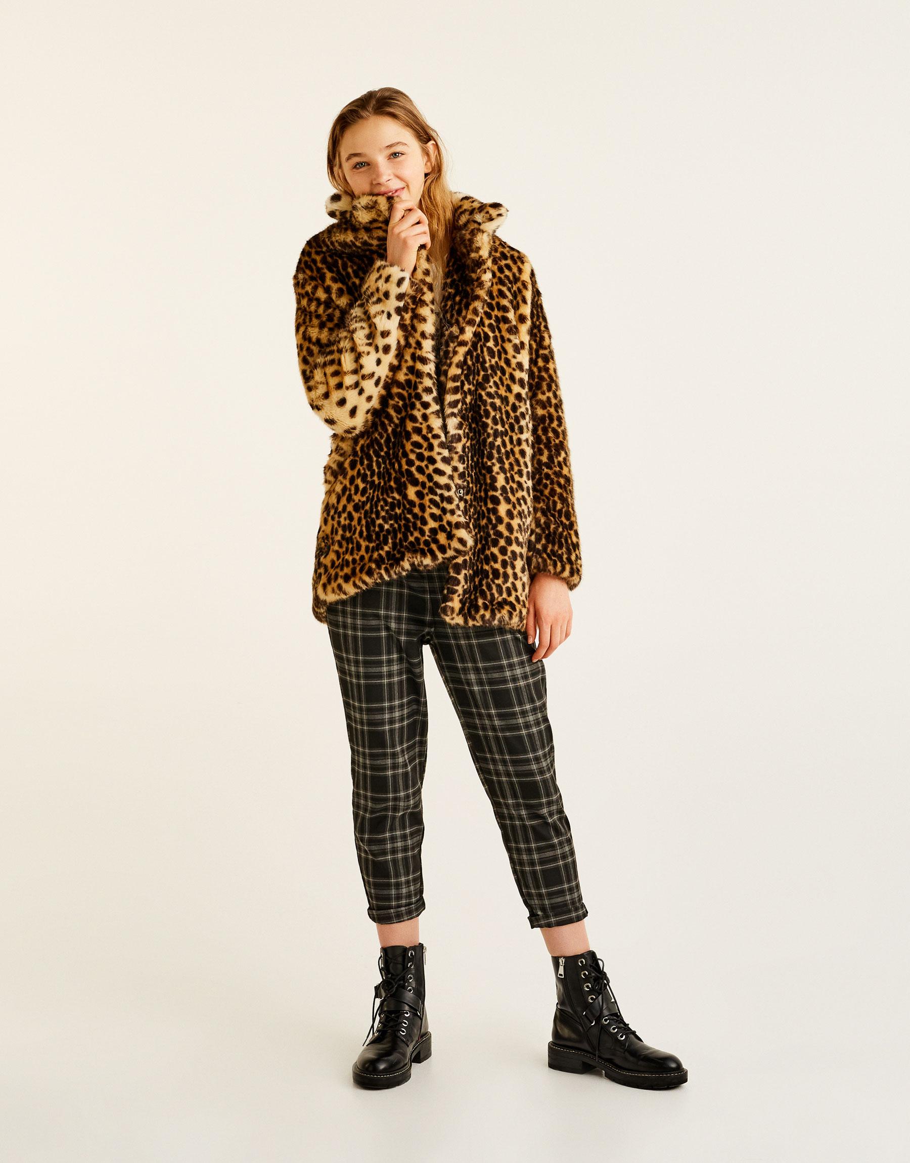 4cdacb8458d7 Pull & Bear Leopard print faux fur coat at £29.99 | love the brands