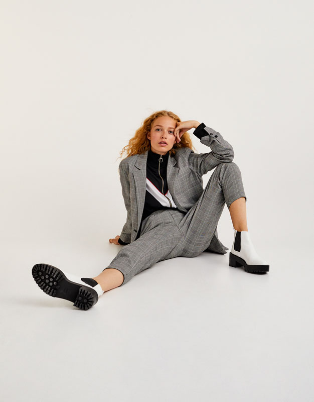 Pull&Bear - femme - vêtements - manteaux et blousons - blazers - blazer fluide - gris - 09782305-I2017