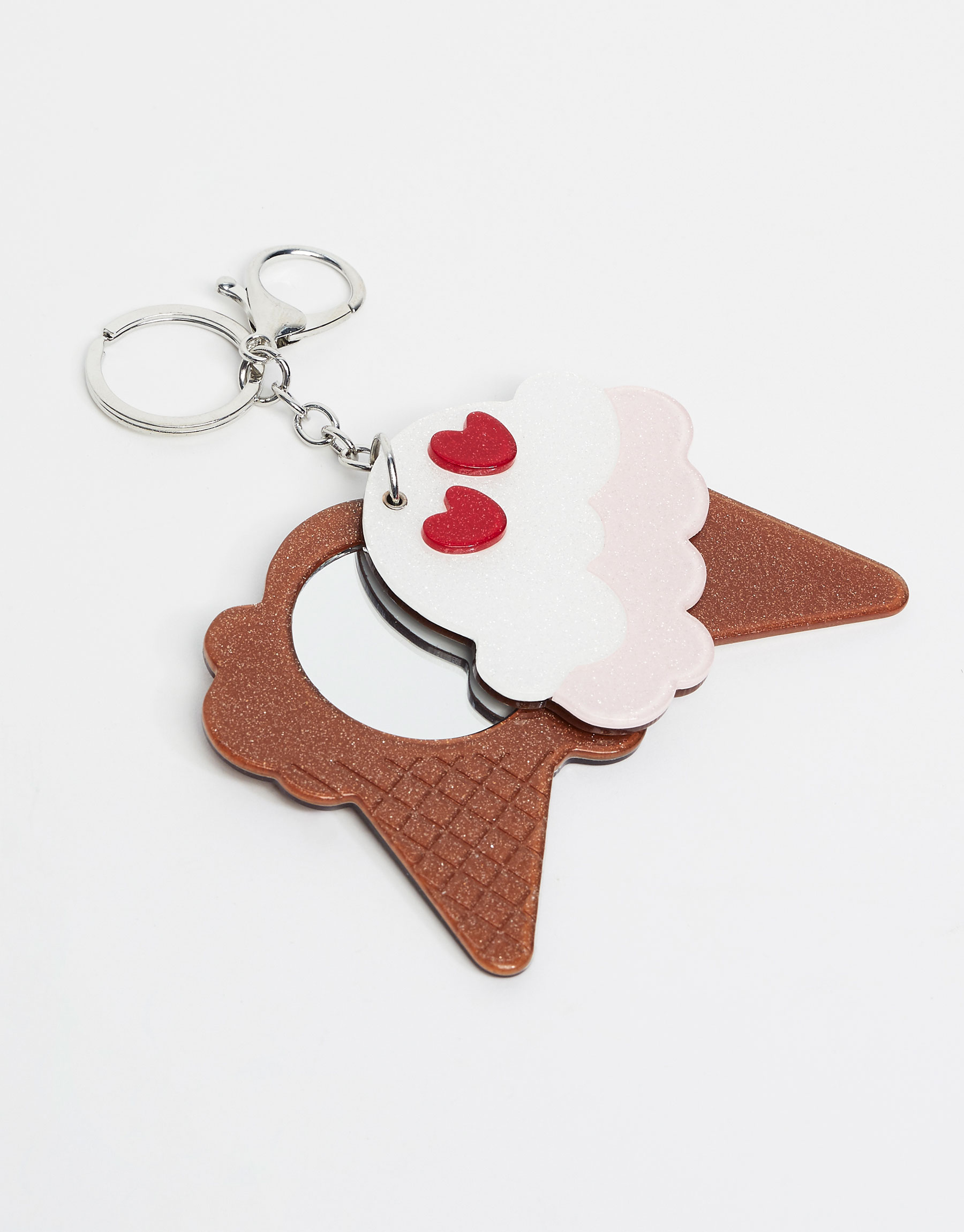 Mirrored ice cream keyring