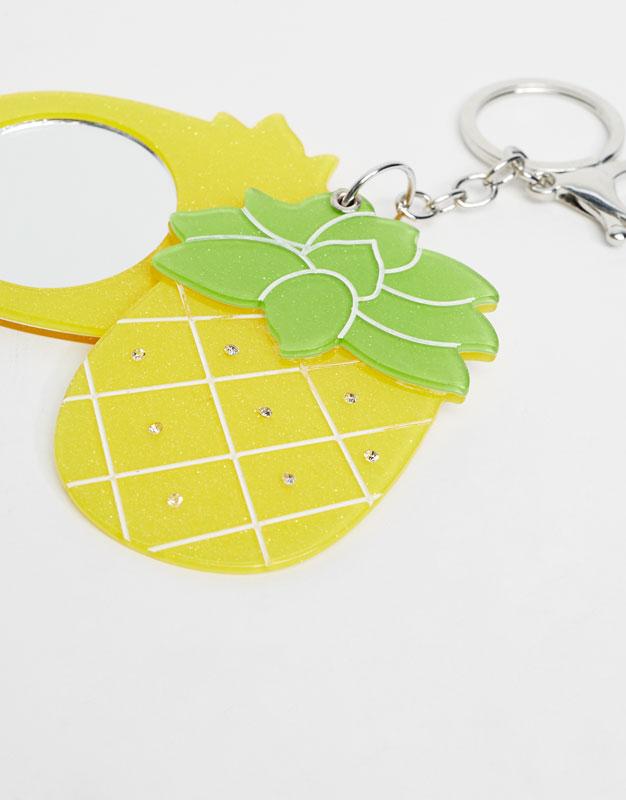 Mirrored pineapple keyring