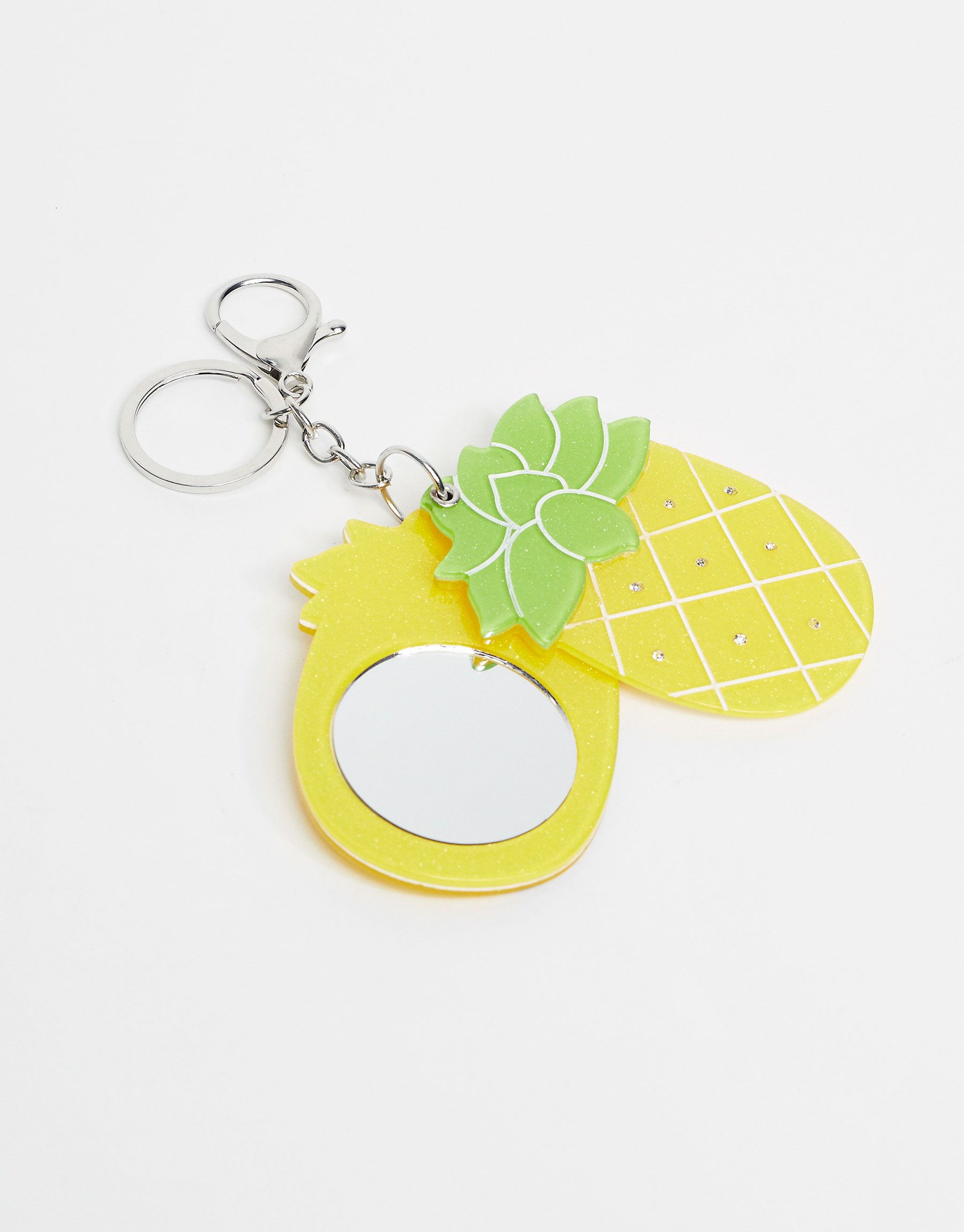 Mirrored pineapple keyring