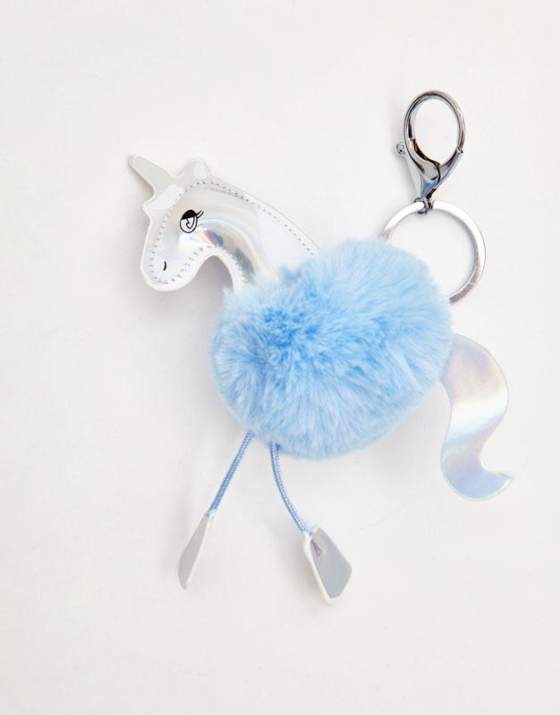 Llavero pompón unicornio