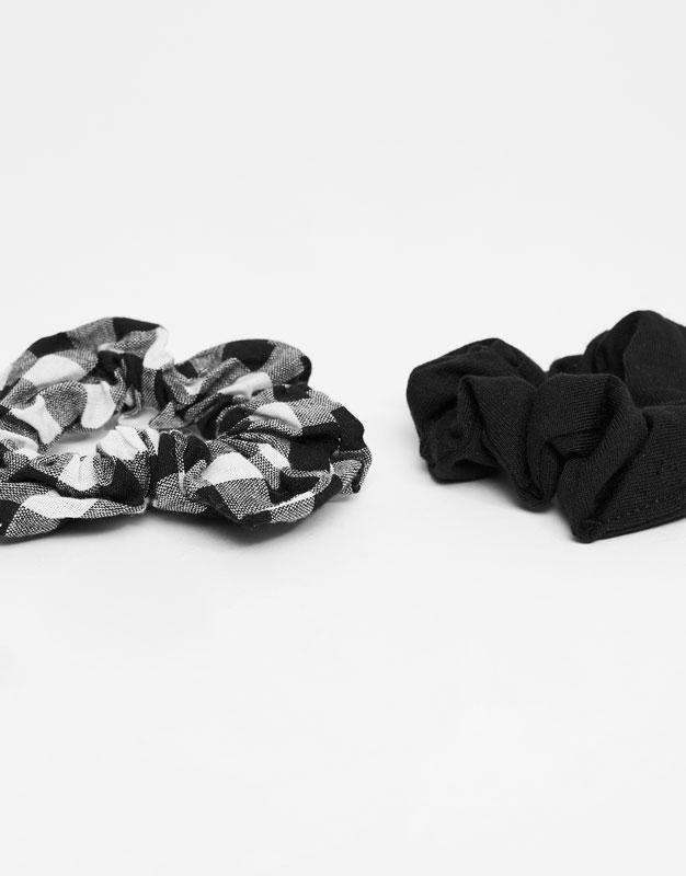 2-Pack of gingham check hair ties