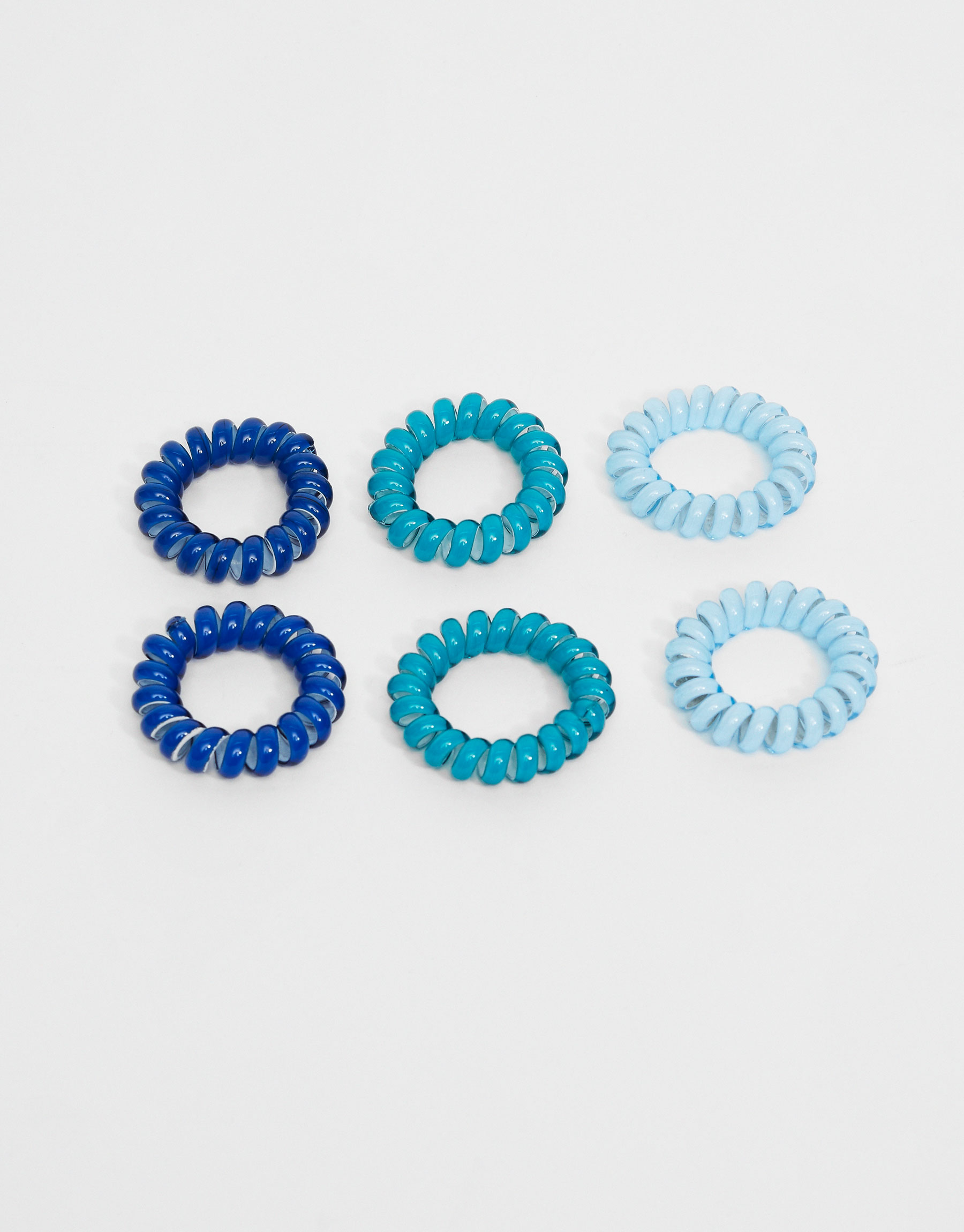 6-Pack of blue hair ties