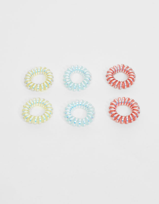 6-Pack of colourful hair ties