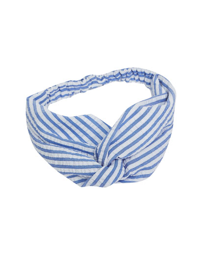 Nautical striped hairband