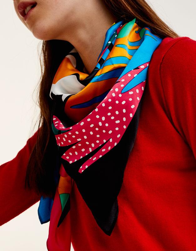 Dinosaur print scarf