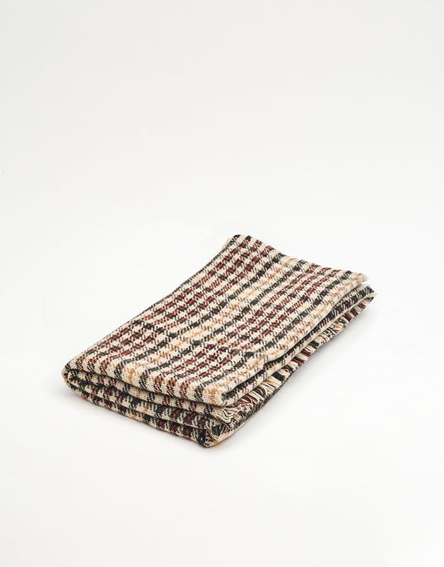 Bufanda de quadres teula