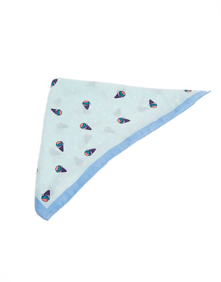 Ice cream print handkerchief
