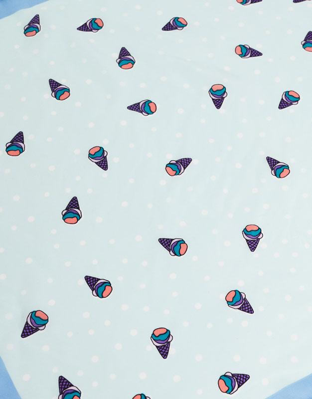 Ice cream print handkerchief