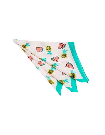 Watermelon print handkerchief