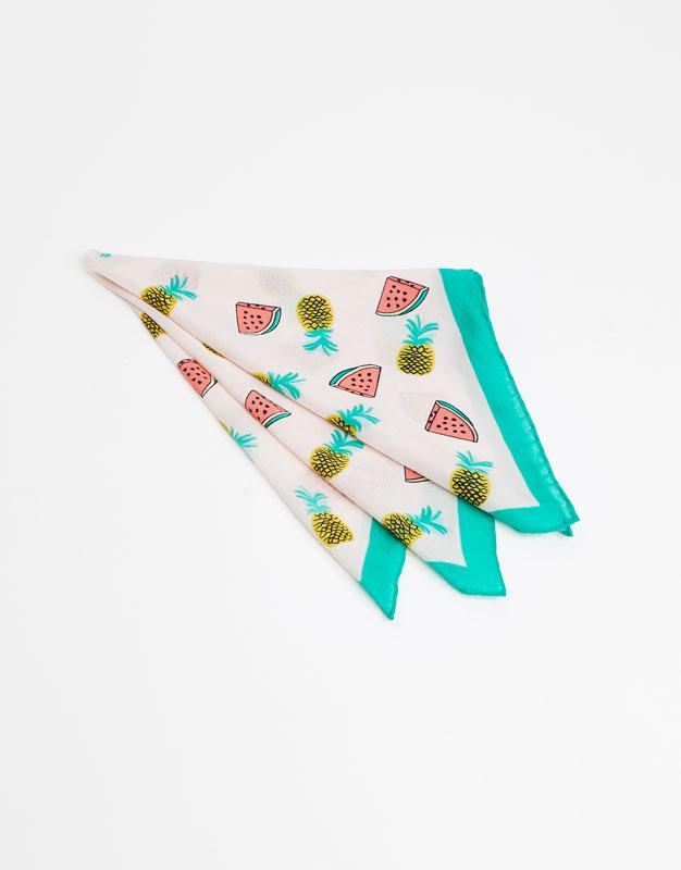 Watermelon print handkerchief