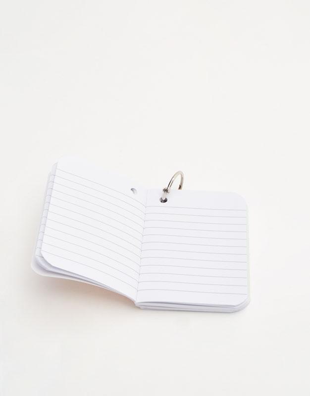 Mini coloured notebooks