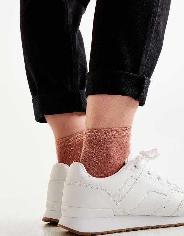 2-pack of shiny socks