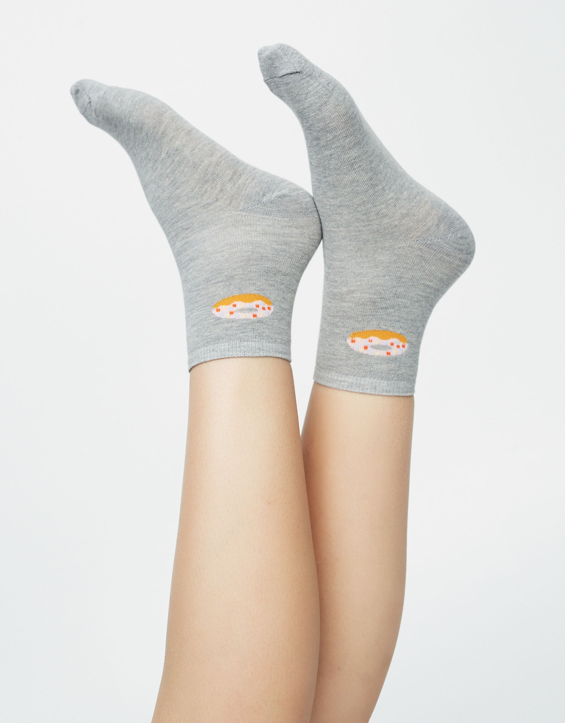 Socks with doughnut illustration