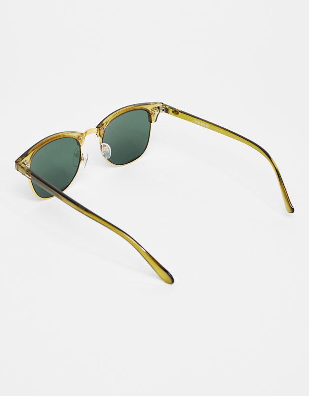 Grüne Retro-Sonnenbrille
