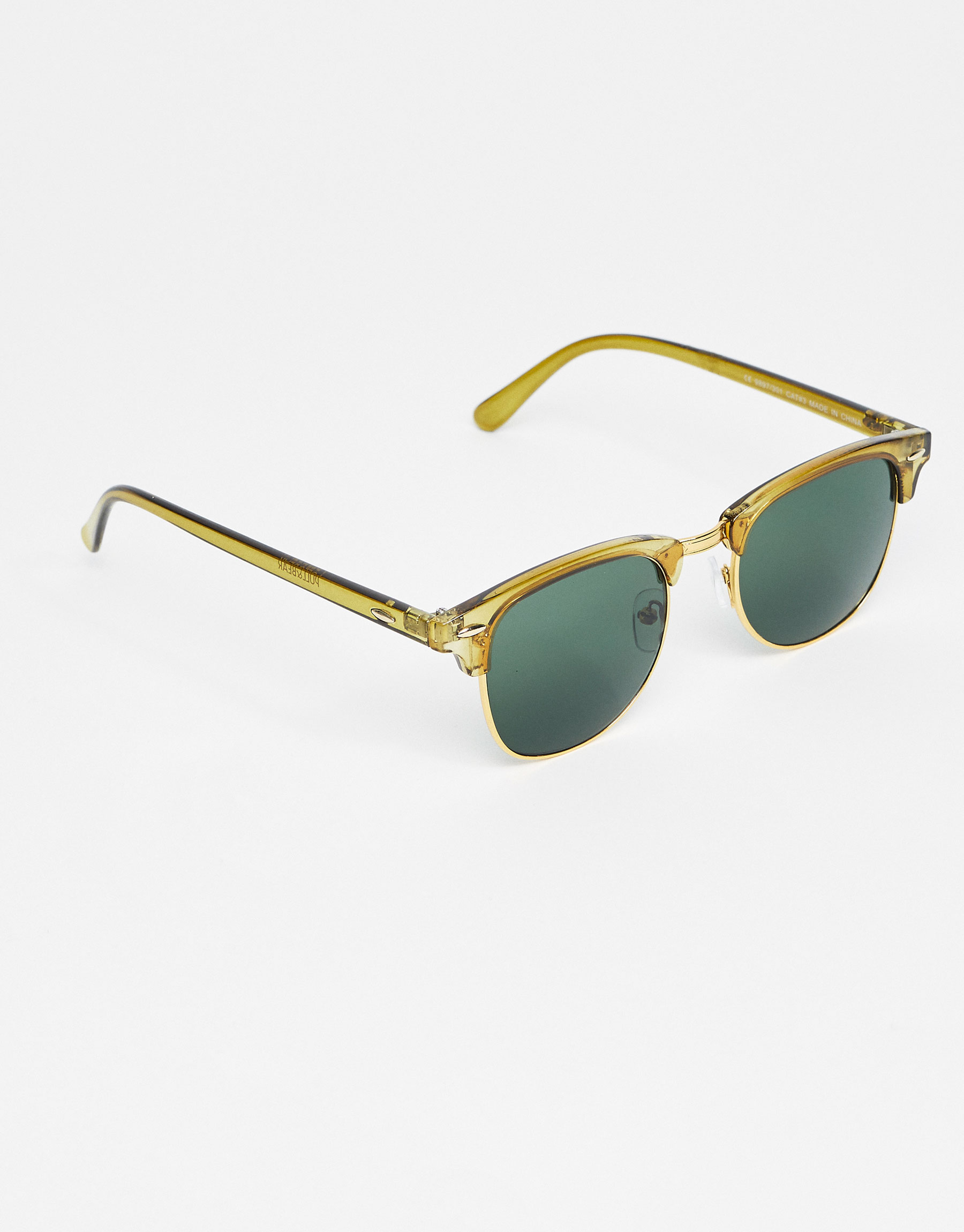 Green retro-style sunglasses