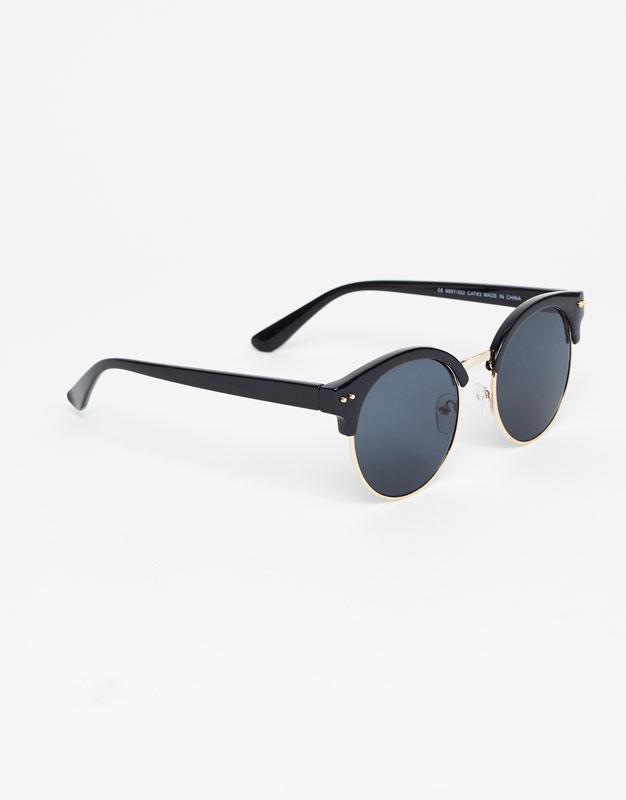 Round cateye sunglasses