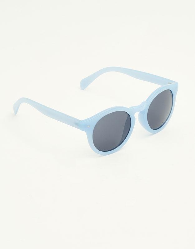 Round pastel sunglasses