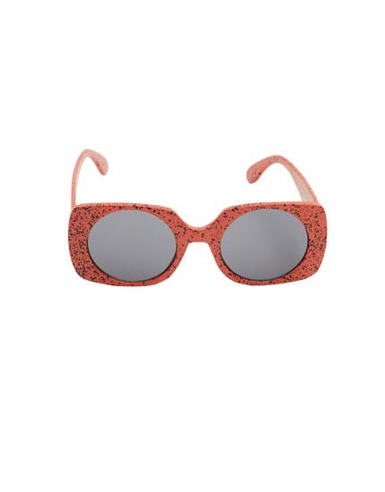 Gafas de sol montura cuadrada manchas