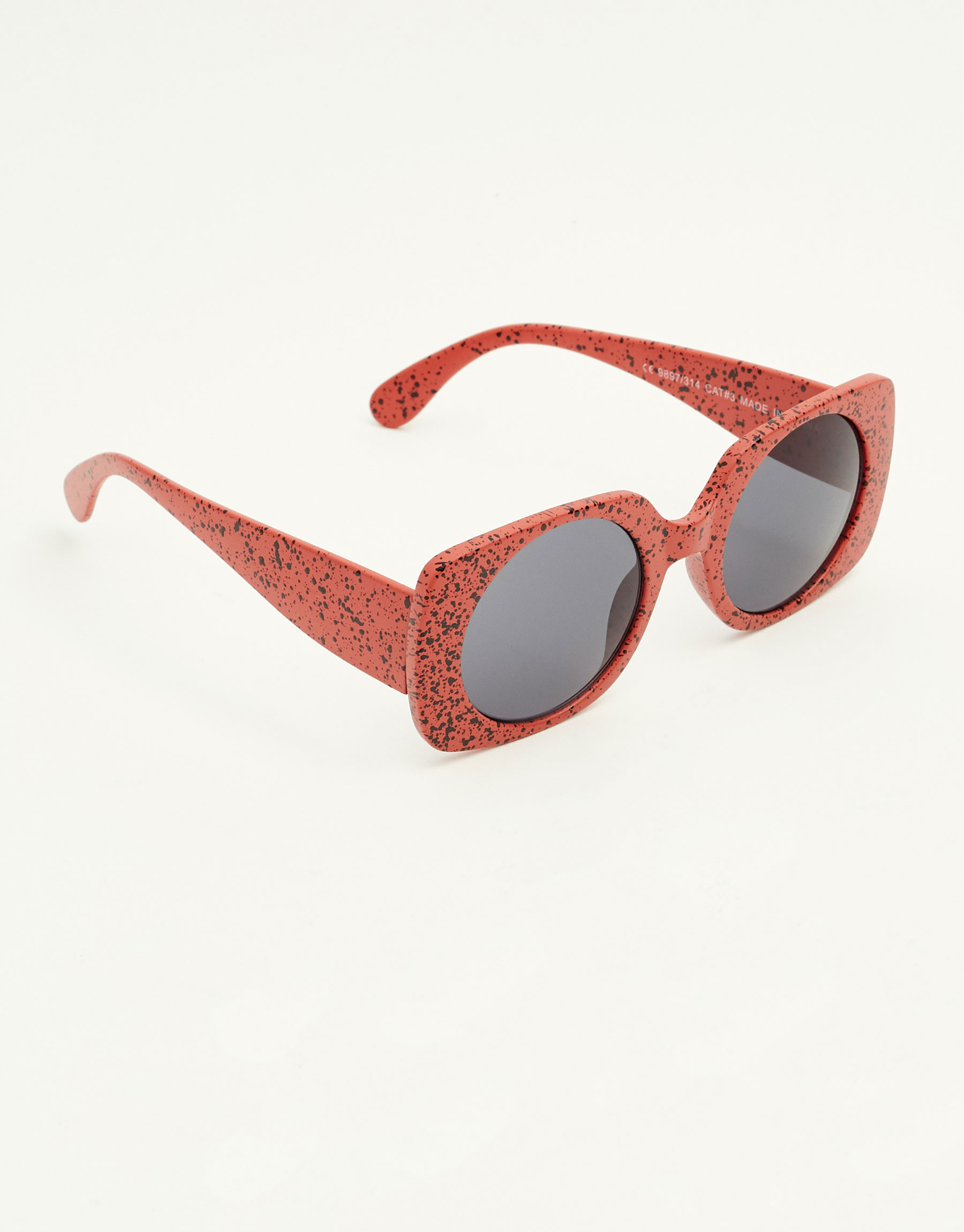 Square speckled sunglasses
