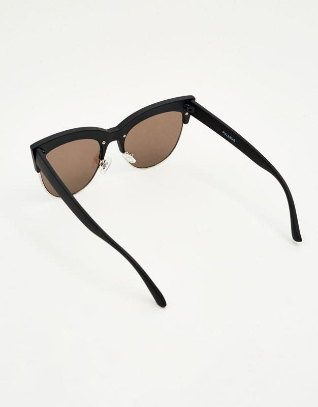 Gafas media montura cateye