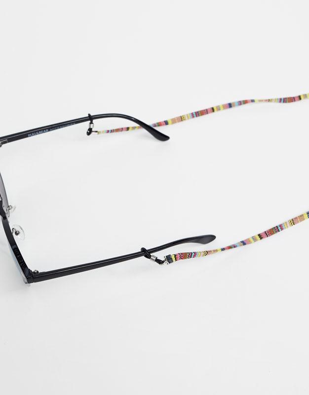 Cordón gafas rayas de colores