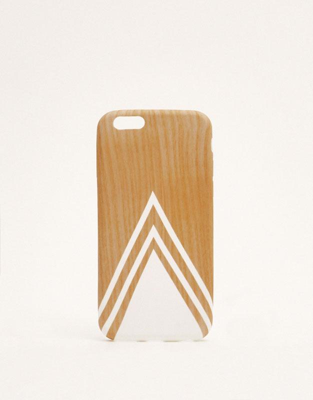 Carcasa triángulo efecto madera
