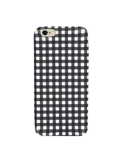 Gingham check iPhone case