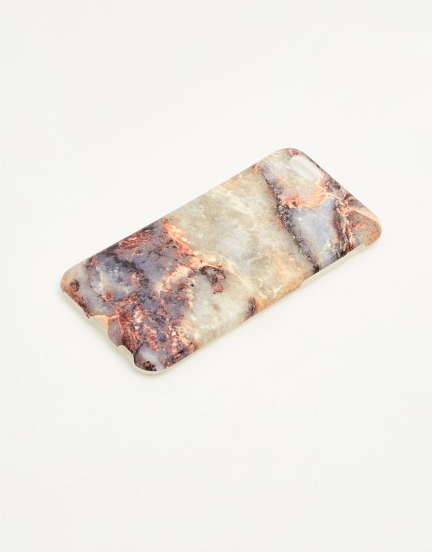 Purple marble effect phone case