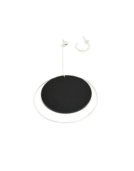 Sphere and hoop earrings