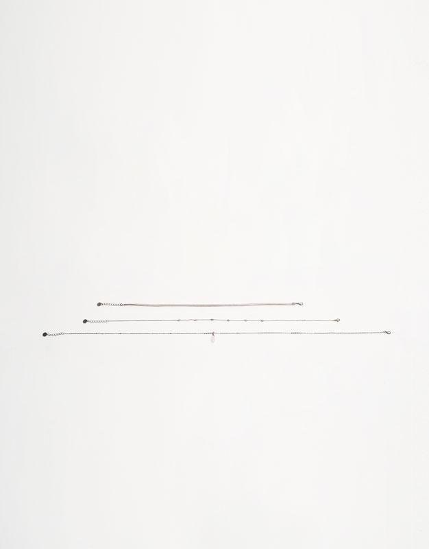 Paquet de 3 collarets pedretes