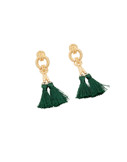 Baroque pompom earrings