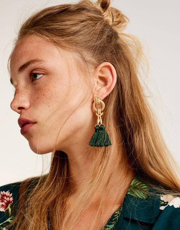 Barocke Ohrringe mit Pompons