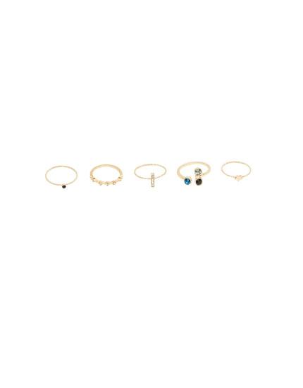 Paquet anells variats brillantor