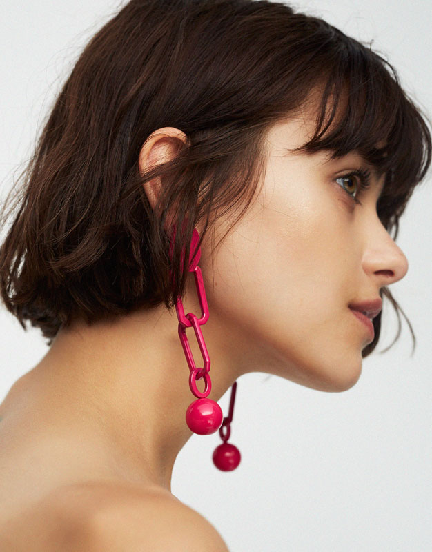 Ohrringe mit Kettengliedern