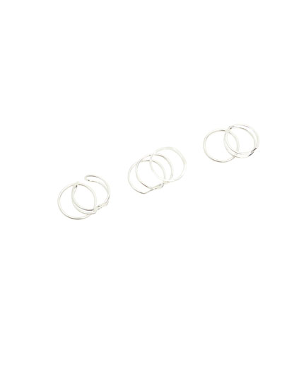 7-pack of wavy rings