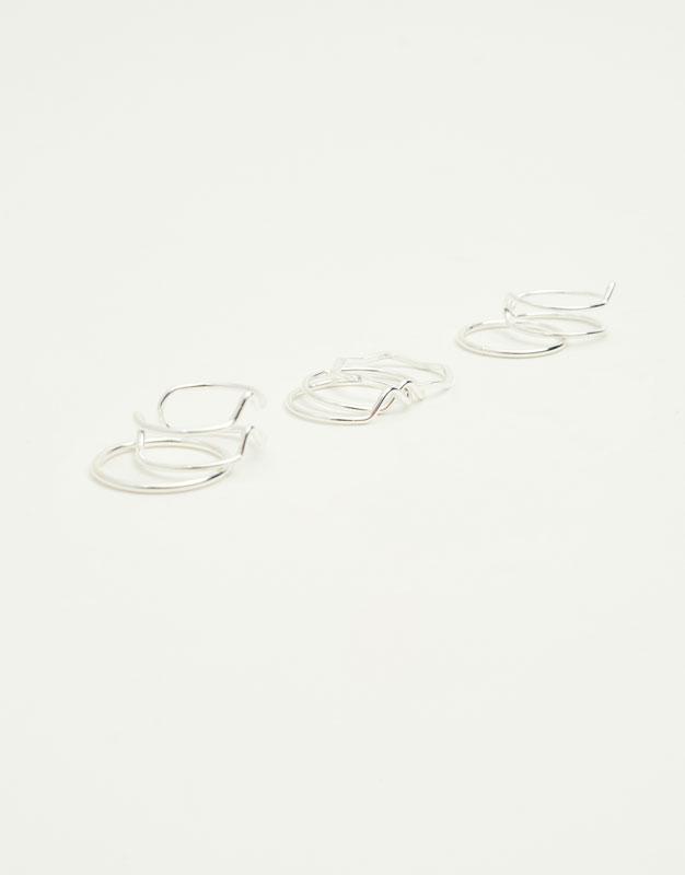 Paquet de 7 anells ones